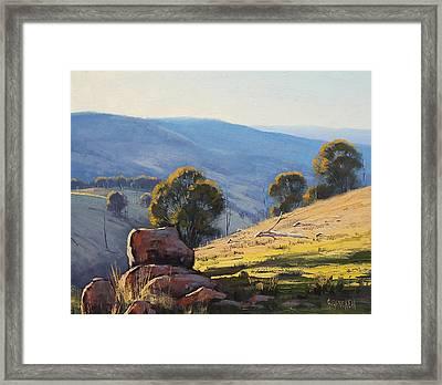 Afternoon Light Turon Hills Framed Print by Graham Gercken