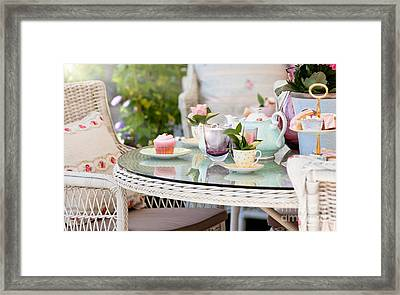 Afternoon Tea And Cakes Framed Print by Simon Bratt Photography LRPS
