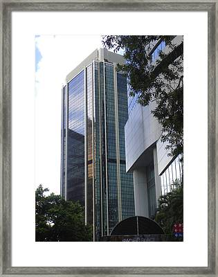 Hong Kong Framed Print featuring the photograph Against A White Sky by Roberto Alamino