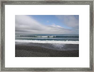 Agate Beach Surf Framed Print by Michael Picco
