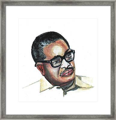 Agostinho Neto Framed Print by Emmanuel Baliyanga