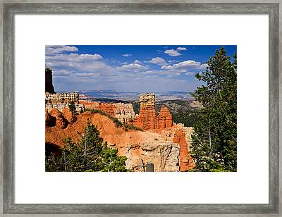 Agua Canyon Bryce Canyon National Park Framed Print by Greg Norrell