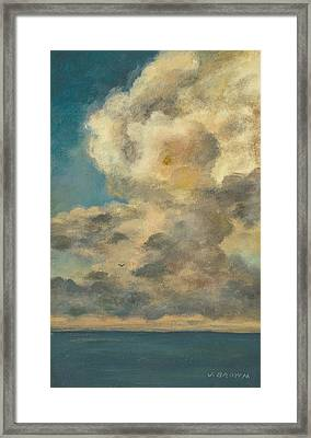 Ahead Of The Storm Framed Print by John Brown