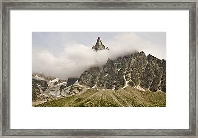 Aiguille Du Dru In Mont Blanc Massif Framed Print by David Pérez