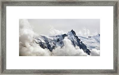 Aiguille Du Midi Out Of Clouds Framed Print by Thomas Pollin