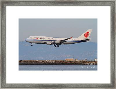 Air China Airlines Jet Airplane At San Francisco International Airport Sfo . 7d12273 Framed Print by Wingsdomain Art and Photography
