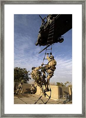 Air Force Pararescuemen Are Extracted Framed Print by Stocktrek Images