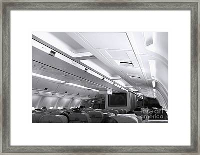 Aircraft Cabin View Framed Print by Yali Shi