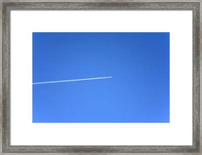 Aircraft Contrail Framed Print by Victor De Schwanberg