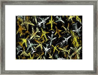 Airlines Collage Abstract Framed Print by David G Paul