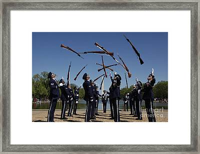 Airmen In The U.s. Air Force Honor Framed Print by Stocktrek Images