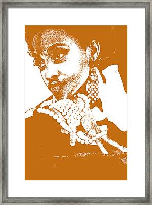 Aisha Brown Framed Print by Naxart Studio