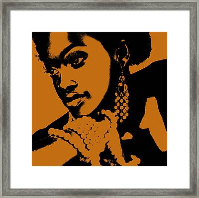 Aisha Framed Print by Naxart Studio
