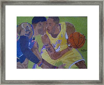 aking You To Scool Framed Print by David Duerson