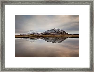 Akrafjall, Icelandic Mountain Framed Print by Johann S. Karlsson