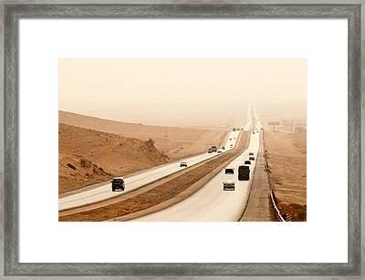 Al Mafraq Desert, Jordan Framed Print by Jim Foley