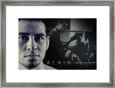 Alain Hernandez Mixed Martial Artist Framed Print by Lisa Knechtel