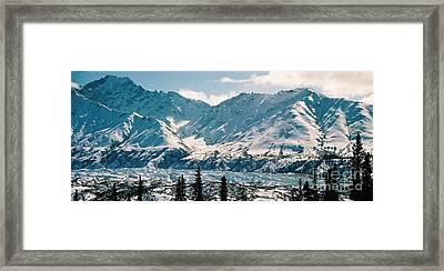 Alaska Deep Freeze Framed Print by Judyann Matthews