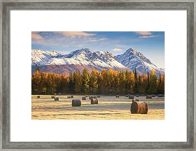 Alaska Farming Framed Print by Alaska Photography