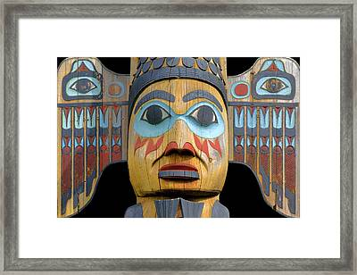 Alaska Totem Framed Print by Mark Greenberg