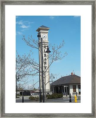 Albany Oregon Train Station Framed Print by Melissa Randolph