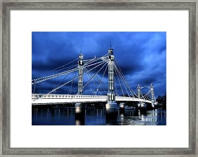 Albert Bridge London Framed Print by Jasna Buncic