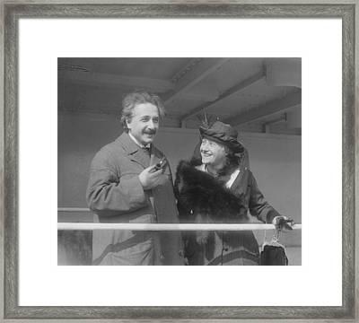 Albert Einstein 1879-1955 Framed Print by Everett