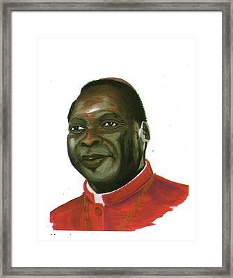 Albert Ndongmo Framed Print by Emmanuel Baliyanga