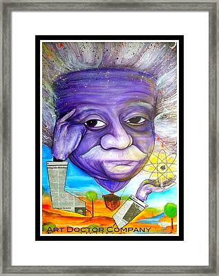 Albert Thinks Framed Print by Jose J Montee Montejano