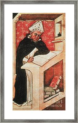 Albertus Magnus, Medieval Philosopher Framed Print by Photo Researchers