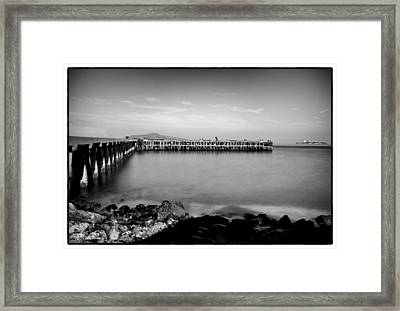 Alcatraz From Fort Point Framed Print by Tanya Harrison
