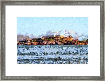Alcatraz Island In San Francisco California . 7d14031 Framed Print by Wingsdomain Art and Photography