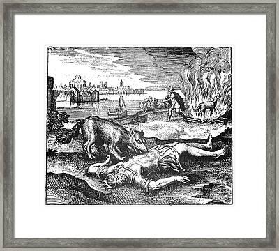 Alchemy Allegory, 1617 Framed Print by Granger
