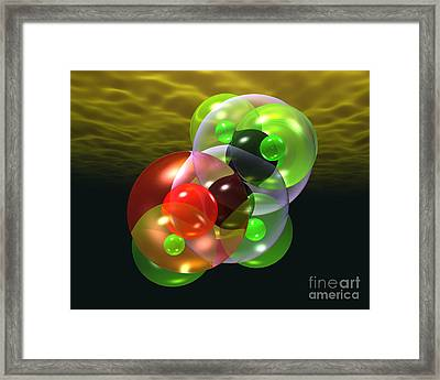 Alcohol Molecule 4 Framed Print by Russell Kightley