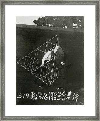 Alexander Graham Bell And Mabel Kissing Framed Print by U.S. Gov'T Library Of Congress
