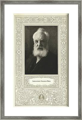 Alexander Graham Bell, British Inventor Framed Print by Science, Industry & Business Librarynew York Public Library