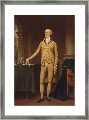 Alexander Hamilton 1757-1804 . He Framed Print by Everett