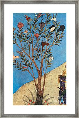 Alexander The Great At The Oracular Tree Framed Print by Photo Researchers