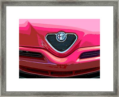 Alfa Romeo Grille Framed Print by Samuel Sheats