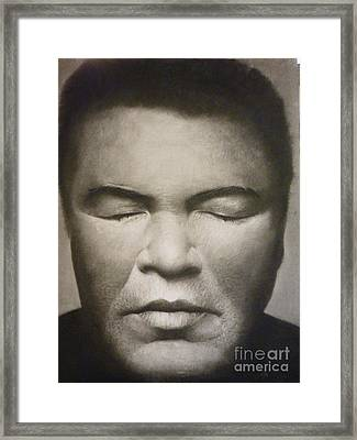 Ali  Framed Print by Adrian Pickett Jr