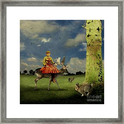 Alice Framed Print by Martine Roch