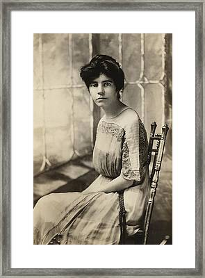 Alice Paul 1885-1977, Protested Framed Print by Everett