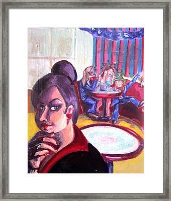 Alice Trippin' In Wonderland Framed Print by Hannah Chusid