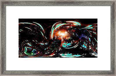 Alien Cave 2 Framed Print by Adam Vance
