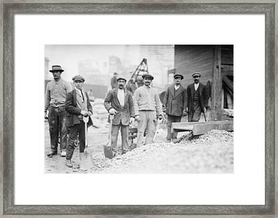 Alien Subway Workers With Shovels Framed Print by Everett