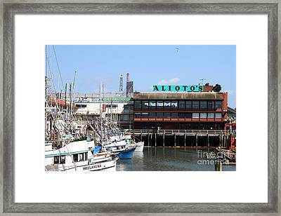 Alioto.s Restaurant . Fishermans Wharf . San Francisco California . 7d14475 Framed Print by Wingsdomain Art and Photography