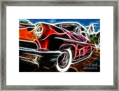 All American Hot Rod Framed Print by Paul Ward