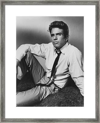 All Fall Down, Warren Beatty, 1962 Framed Print by Everett