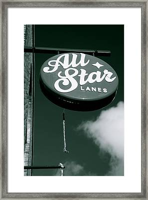 All Star Lanes Framed Print by Jez C Self