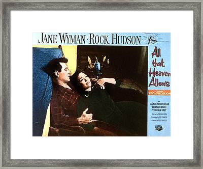 All That Heaven Allows, Rock Hudson Framed Print by Everett